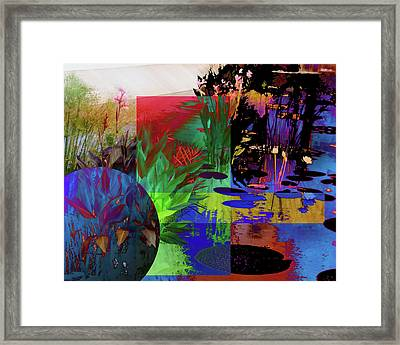 Abstract Flowers Of Light Series #19 Framed Print