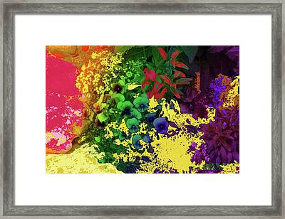 Abstract Flowers Of Light Series #2 Framed Print