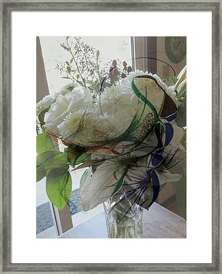 Abstract Flowers Of Light Series #3 Framed Print