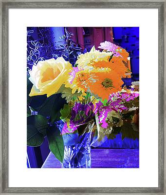 Abstract Flowers Of Light Series #7 Framed Print