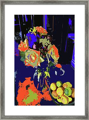 Abstract Flowers Of Light Series #8 Framed Print