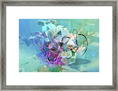 Abstract Flowers Of Light Series #9 Framed Print