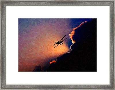 Abstract- Flying Away Framed Print