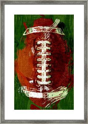 Abstract Football Framed Print by David G Paul