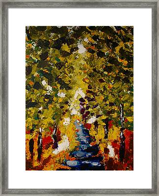 Abstract Forest #1 Framed Print