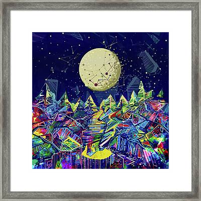 Abstract Forest Framed Print by Bekim Art