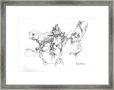Abstract Forms Framed Print by Padamvir Singh
