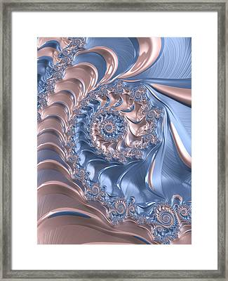 Abstract Fractal Art Rose Quartz And Serenity  Framed Print