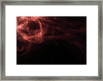 Abstract Fractal Light Rays Background Framed Print