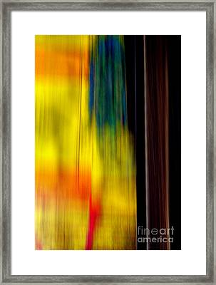 Abstract-from A Rolling Train Framed Print