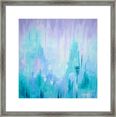 Abstract Frost 1 Framed Print