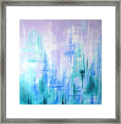 Abstract Frost 2 Framed Print