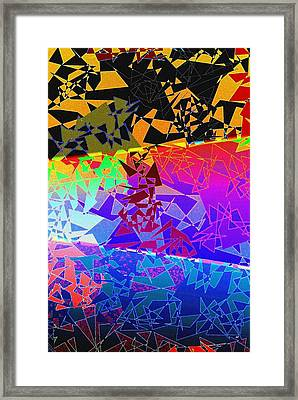 Abstract Fusion 273 Framed Print by Will Borden