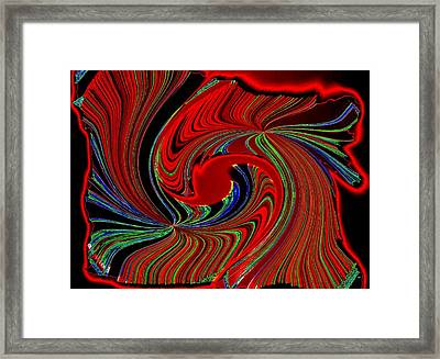 Abstract Fusion 274 Framed Print by Will Borden