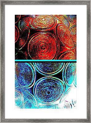 Framed Print featuring the digital art Abstract Fusion 275 by Will Borden