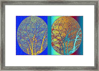Framed Print featuring the digital art Abstract Fusion 276 by Will Borden