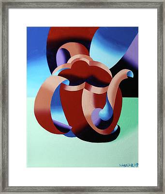 Abstract Futurist Teapot Framed Print by Mark Webster