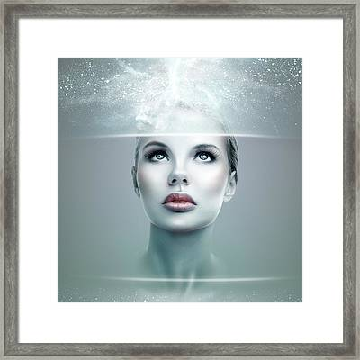 Abstract Futuristic Woman Framed Print by IPolyPhoto Art