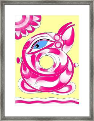 Abstract Ganapati Framed Print