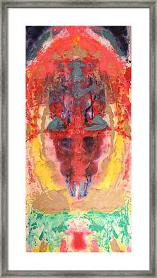 Abstract Ganesha Framed Print