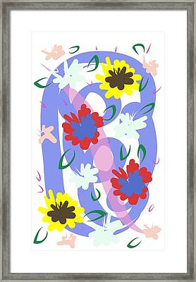 Framed Print featuring the digital art Abstract Garden #1 by Bee-Bee Deigner