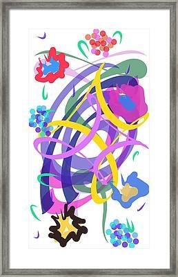 Framed Print featuring the digital art Abstract Garden #2 by Bee-Bee Deigner