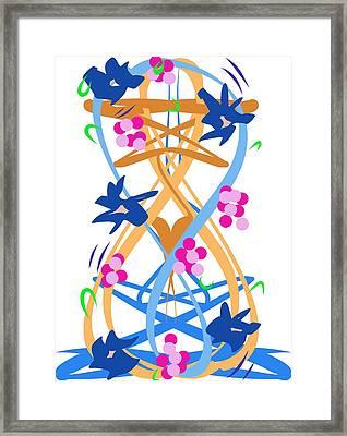 Framed Print featuring the digital art Abstract Garden #3 by Bee-Bee Deigner