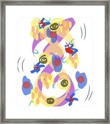Framed Print featuring the digital art Abstract Garden #5 by Bee-Bee Deigner