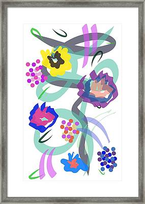 Framed Print featuring the digital art Abstract Garden Nr 4 by Bee-Bee Deigner