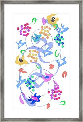 Framed Print featuring the digital art Abstract Garden Nr 6 by Bee-Bee Deigner