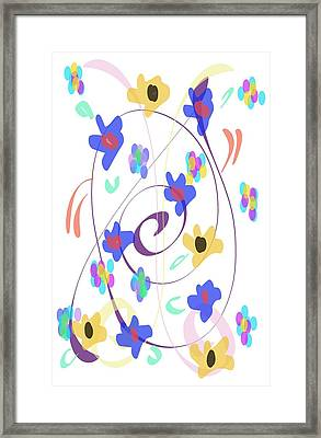 Framed Print featuring the digital art Abstract Garden Nr 7 Naif Style by Bee-Bee Deigner