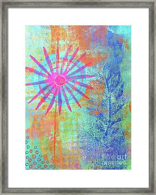 Abstract Garden Walk Framed Print by Desiree Paquette