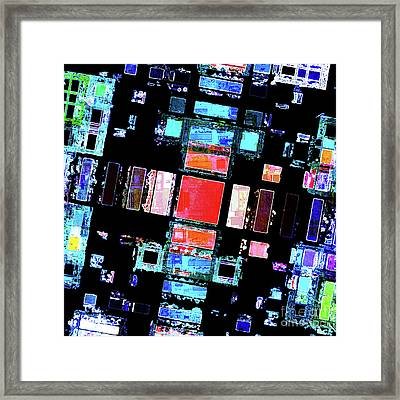 Framed Print featuring the digital art Abstract Geometric Art by Phil Perkins