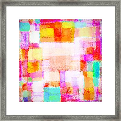 Abstract Geometric Colorful Pattern Framed Print by Setsiri Silapasuwanchai