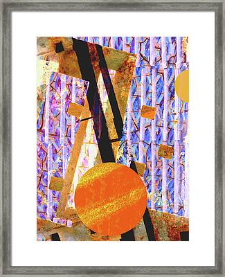 Abstract Geometric Framed Print by Robert Ball