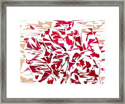 Abstract Geranium Framed Print