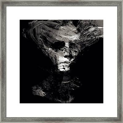 Abstract Ghost Black And White Framed Print