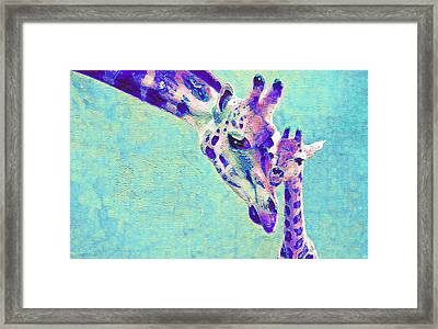 Abstract Giraffes Framed Print
