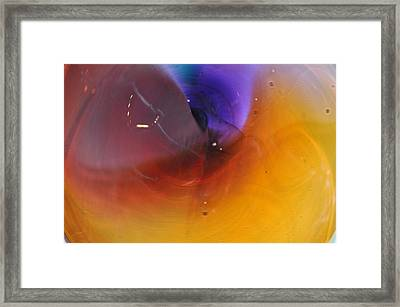 Abstract Glass 56 Framed Print by Marty Koch