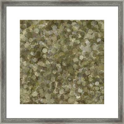 Abstract Gold And Cream 2 Framed Print