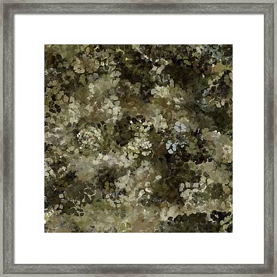 Framed Print featuring the mixed media Abstract Gold Black White 5 by Clare Bambers