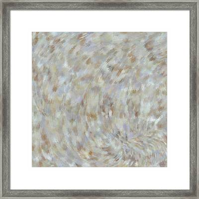 Framed Print featuring the mixed media Abstract Gold Cream Beige 6 by Clare Bambers