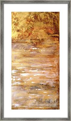 Abstract Golden Sunrise Beach  Framed Print