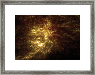 Abstract Golden Universe Background Framed Print