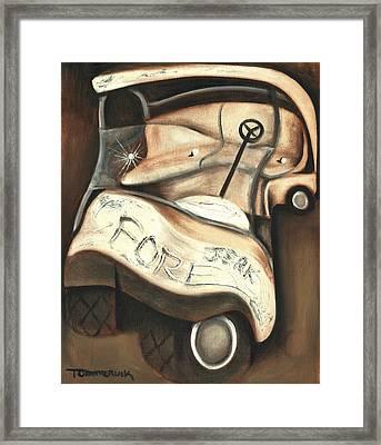 Tommervik Abstract Golf Cart Art Print Framed Print by Tommervik