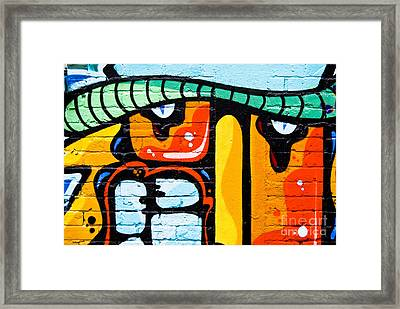 Framed Print featuring the painting Abstract Graffiti Face by Yurix Sardinelly