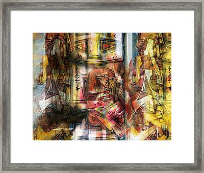 Abstract Graffitis Framed Print by Martine Affre Eisenlohr