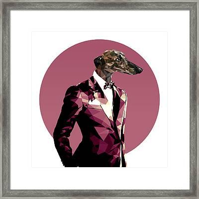 Abstract Greyhound 1 Framed Print