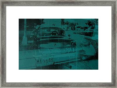 Abstract Green Car Framed Print