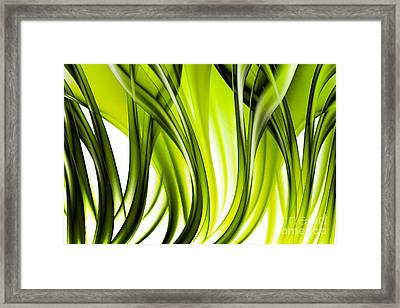 Abstract Green Grass Look Framed Print